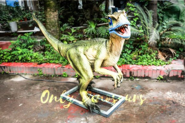 Custom Animatronic Raptor in Green4