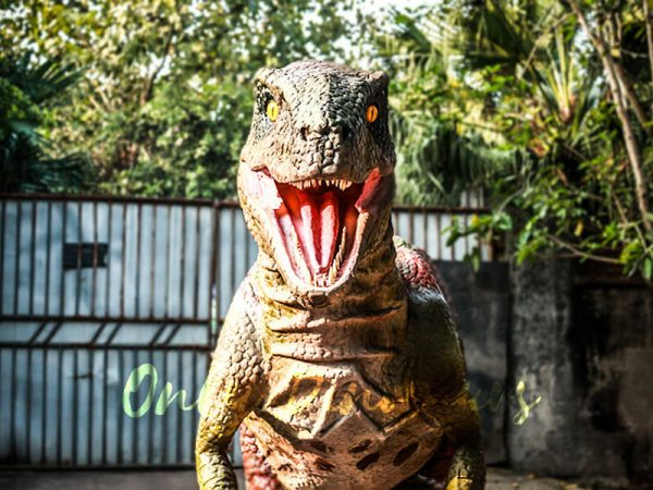 Customized Velociraptor Costume Red & Green2
