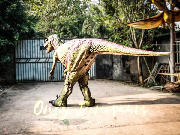 Customized Velociraptor Costume Red & Green3