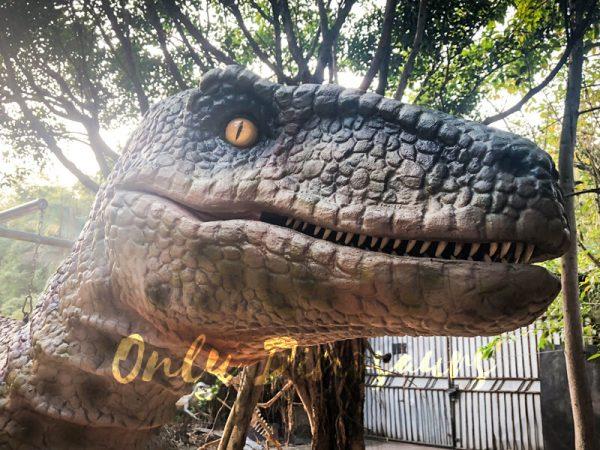 Customized-Velociraptor-Costume-Red-Green555