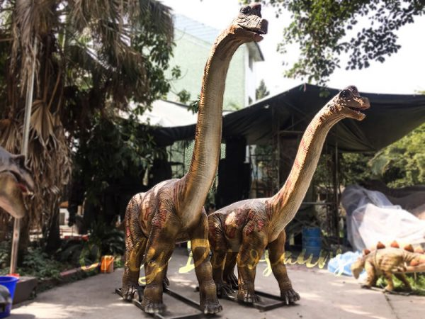 Cute Animatronics Brachiosaurus in Group for sale1