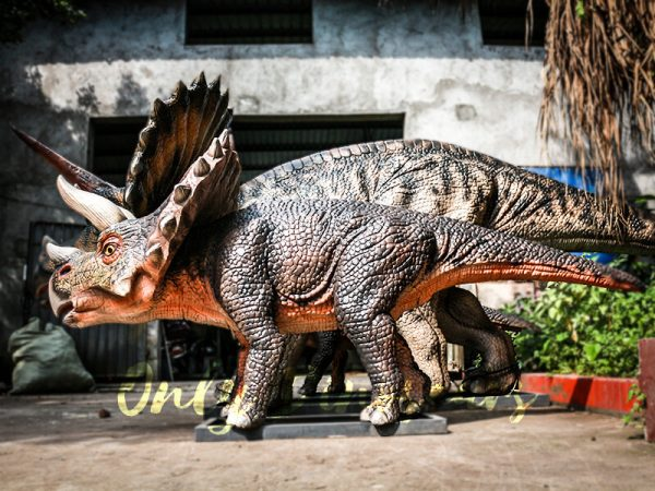 Dinosaur Exhibition Attract Animatronic Triceratops Family5