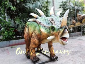 Green Animatronic Styracosaurus for Event