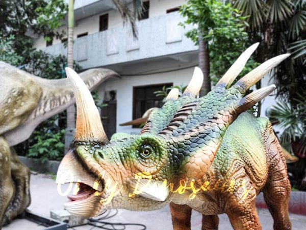 Green Animatronic Styracosaurus for Event4