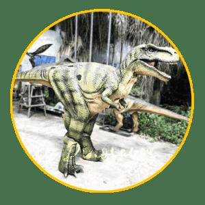 Hidden legs dinosaur costume thumbnail