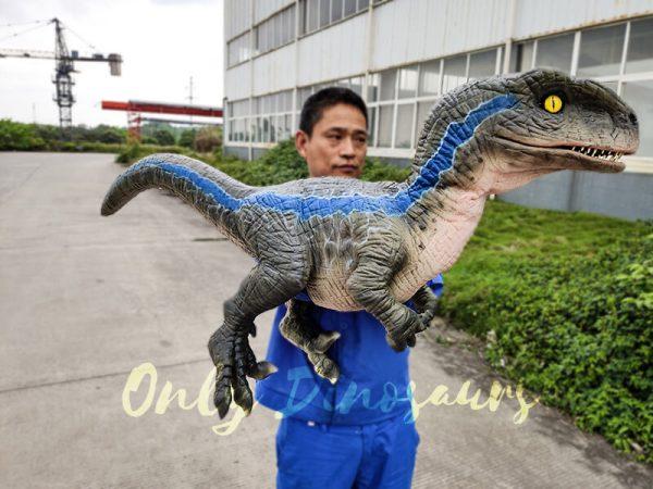 Jurassic Baby Blue Raptor Dinosaur Hand Puppet1