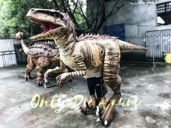 Jurassic World Dinosaur Costume Adults Realistic Raptor2