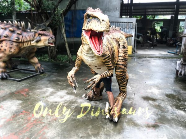 Jurassic World Dinosaur Costume Adults Realistic Raptor5