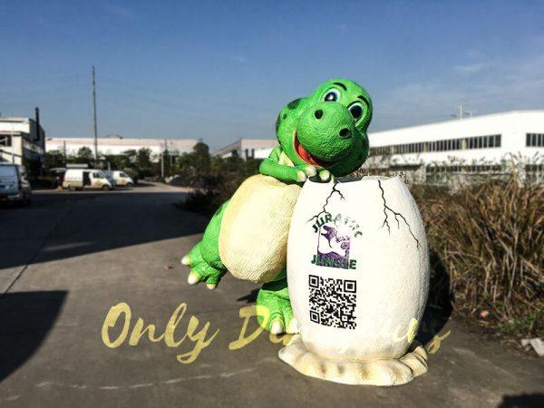 Jurassic World Fiberglass Statues Eggshell5