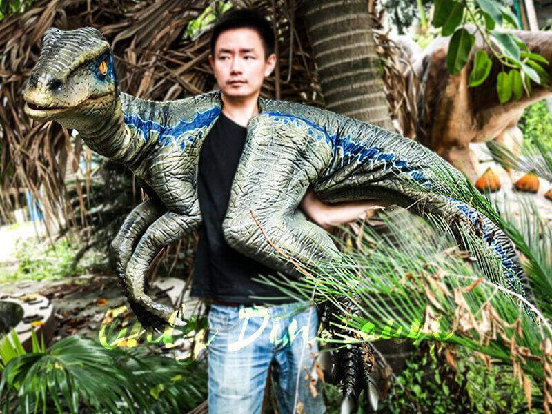 Juvenile Blue Raptor Shoulder Puppet Realistic Dinosaur1