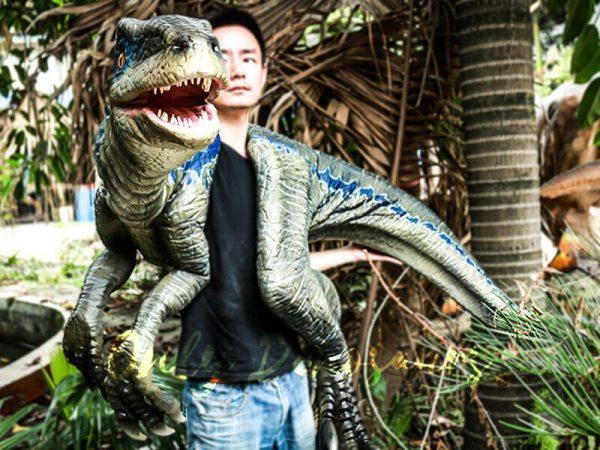 Juvenile Blue Raptor Shoulder Puppet Realistic Dinosaur6