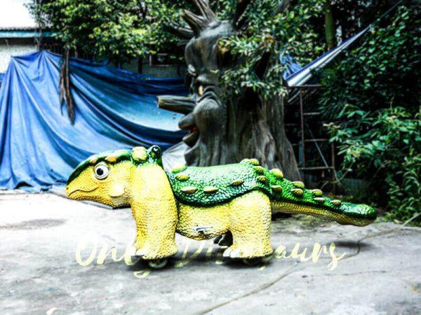 Kiddie Rideable Dinosaurs Ankylosaur in Dinosaur Park1