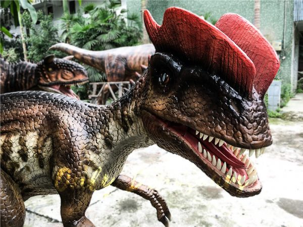 Life size Animatronic Dinosaur Dilophosaurus2