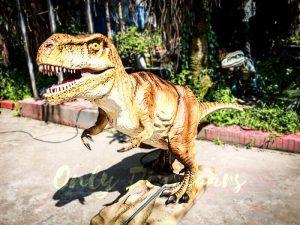 Lifelike Trex Animatronic Dinosaur in Jurassic Show