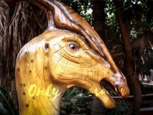 Lifesize Fiberglass Statue Parasaurolophus Head
