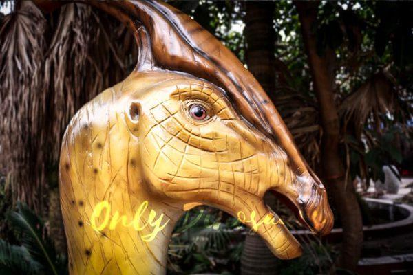 Lifesize Fiberglass Statue Parasaurolophus Head2