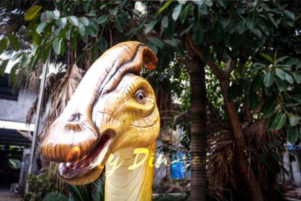 Lifesize Fiberglass Statue Parasaurolophus Head4