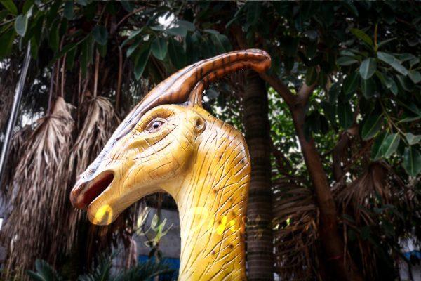 Lifesize Fiberglass Statue Parasaurolophus Head5