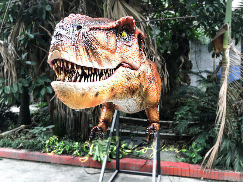 Mechanical T rex Head Decoration for Restaurant1