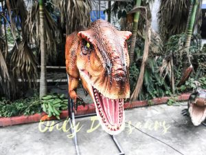 Mechanical T rex Head Decoration for Restaurant