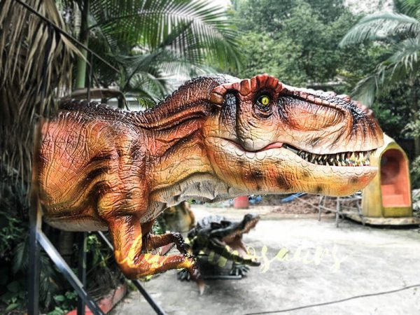 Mechanical T rex Head Decoration for Restaurant3