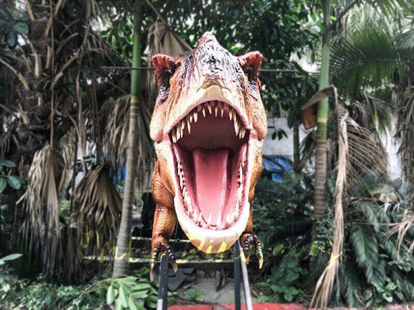 Mechanical T rex Head Decoration for Restaurant5
