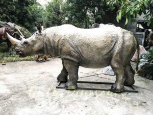 Museum Exhibition Animatronic Animals Rhinoceros
