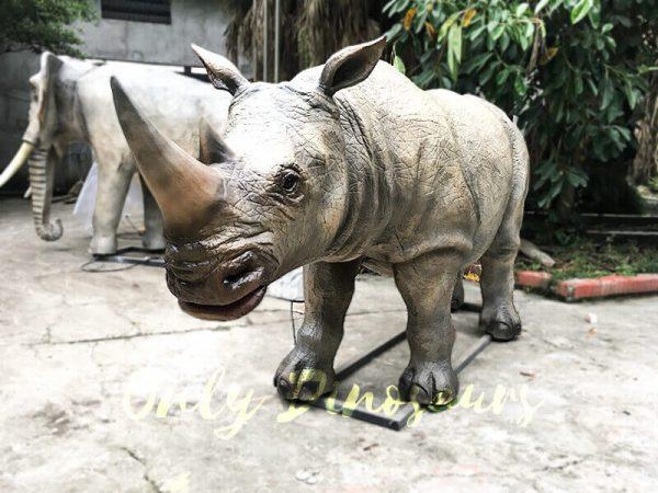 Museum Exhibition Animatronic Animals Rhinoceros3