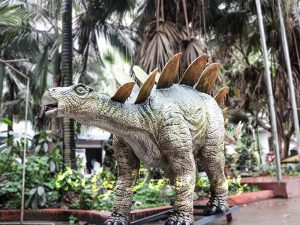 Outdoor Attraction Animatronic Dinosaurs Stegosaurus