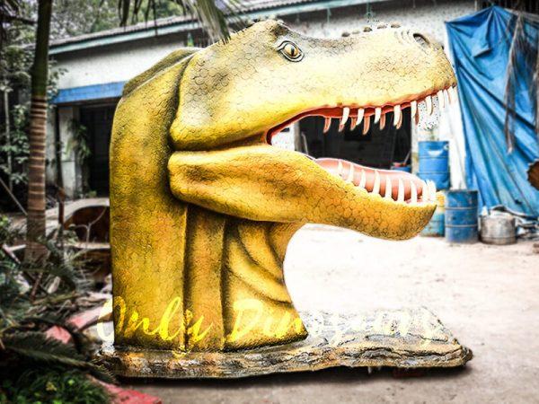 Outdoor Fiberglass Statues T Rex Head2