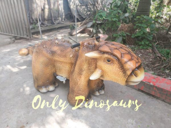 Park Dinosaur Rides Ankylosaur in Yellow3