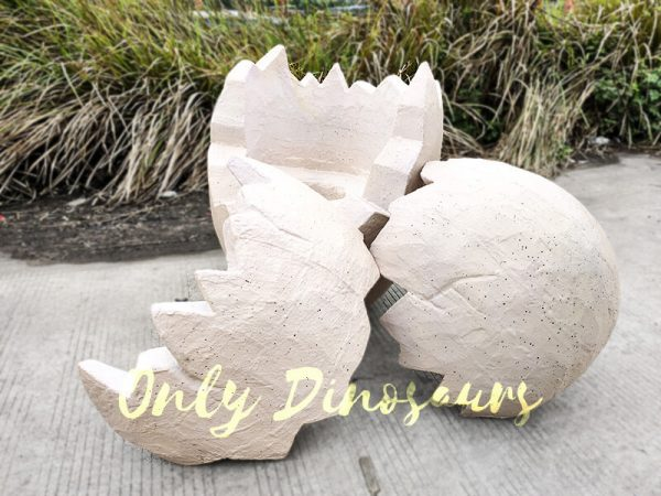 Parted Dinosaur Eggshell Props in Earthy Yellow4