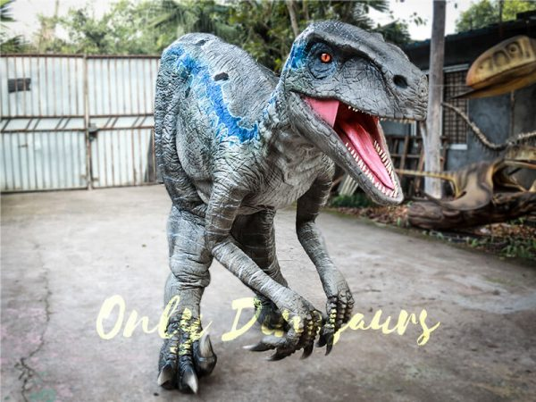 Realistic Raptor Halloween Costumes Jurassice Blue1