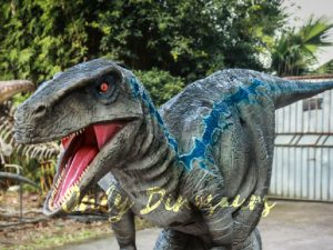 Realistic Raptor Halloween Costumes Jurassice Blue