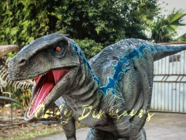 Realistic Raptor Halloween Costumes Jurassice Blue2