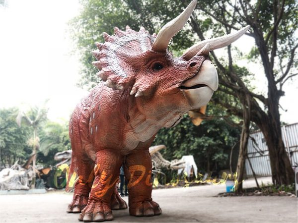 Red Triceratops 2 Person Costumes for School1