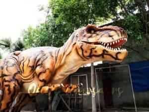 Stripe Jurassic Park T rex Animatronic Model