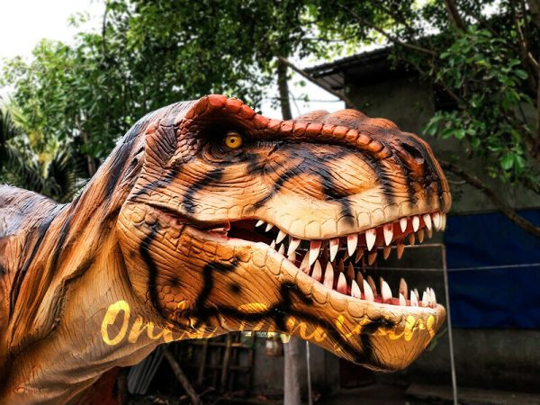Stripe Jurassic Park T rex Animatronic Model5