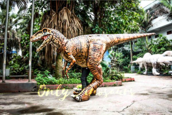Stripe Realistic Dinosaur Suit for Park Attention1
