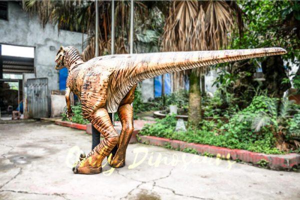 Stripe Realistic Dinosaur Suit for Park Attention2