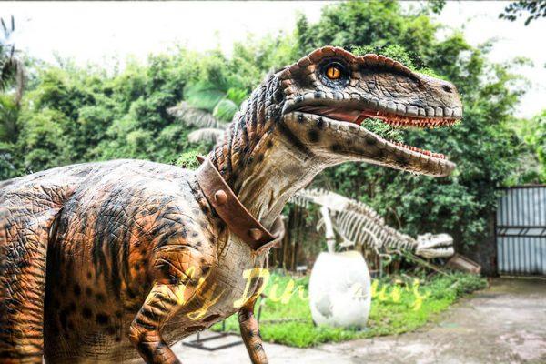 Stripe Realistic Dinosaur Suit for Park Attention3