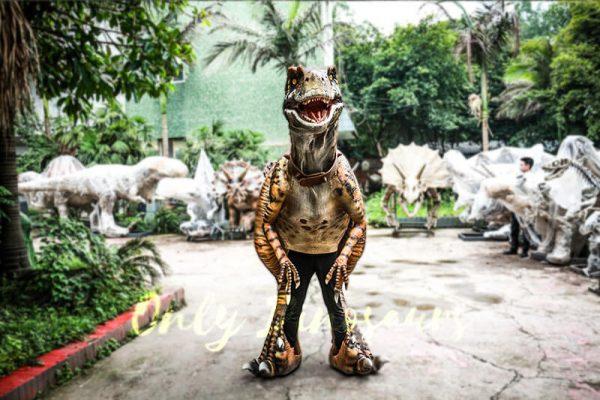 Stripe Realistic Dinosaur Suit for Park Attention4