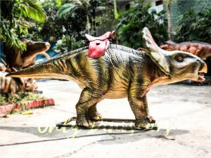 Theme Park Amusement ride on dinosaurs Protoceratops