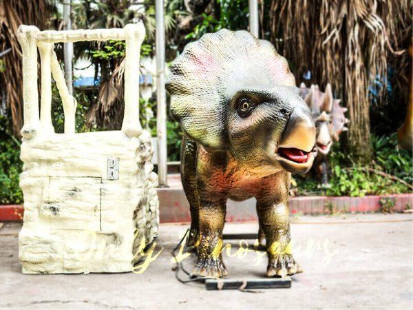 Theme Park Amusement ride on dinosaurs Protoceratops3