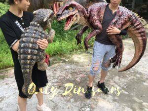 Velociraptor Shoulder Puppet Brown for Puppeteer