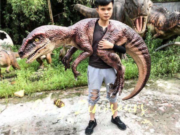 Velociraptor Shoulder Puppet Brown for Puppeteer2