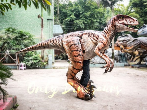 Walking Dinosaurs Raptor Costume Visible Legs1