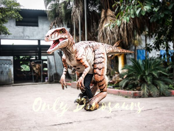 Walking Dinosaurs Raptor Costume Visible Legs4