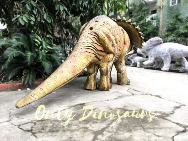 Yellow Triceratops Realistic Dinosaurs Actor Costume2