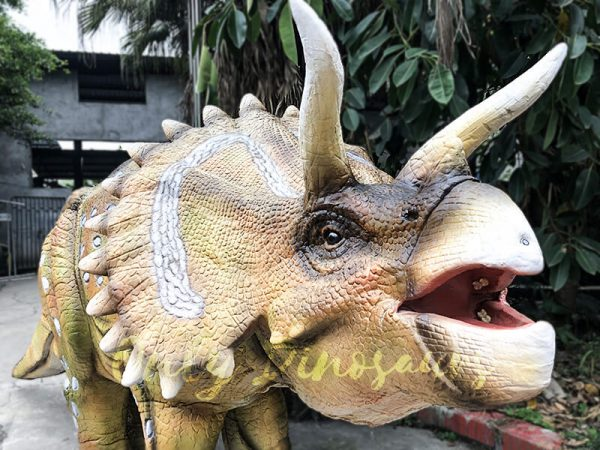 Yellow Triceratops Realistic Dinosaurs Actor Costume4